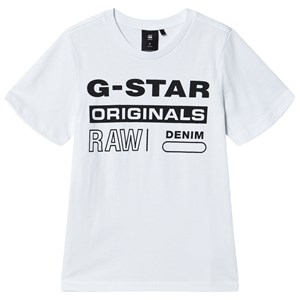 Image of G-STAR RAW G-Star Klassisk Logo T-Shirt Hvid 8 years (1498423)