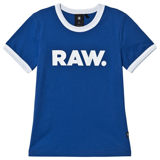 G-STAR RAW Graphic Contrast Tee Blue/White 44