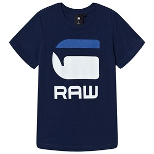 Image of G-STAR RAW G-Star Logo Kontrast T-Shirt Blå 12 years (1498469)