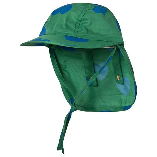 Mini Rodini Hearts Sun Cap Green Green