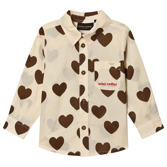 Mini Rodini Hearts Shirt Off White White
