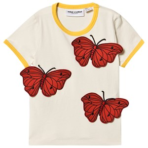 Image of Mini Rodini Butterflies T-shirt Off White 104/110 cm (1516069)