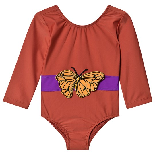 Mini Rodini Butterfly Swimsuit Red Red