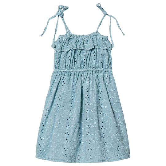 Tocoto Vintage Swiss Embroidered Dress Blue 009 GREEN
