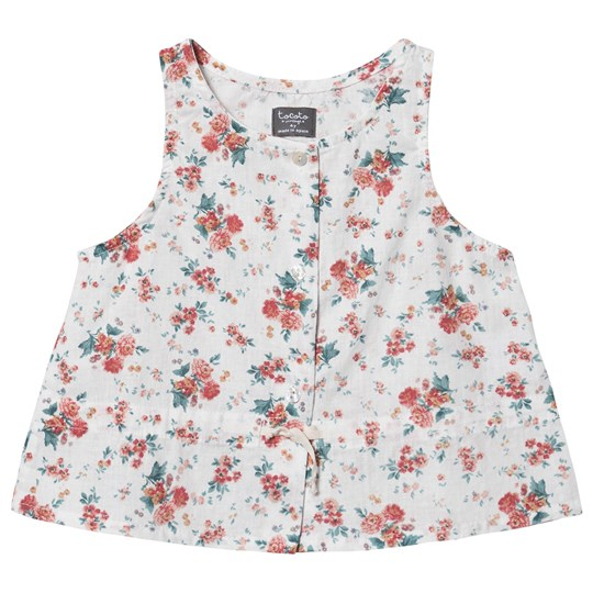 Tocoto Vintage Floral Top Off White 010 FLOWERS