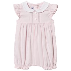 Absorba Romper With Collar Pink