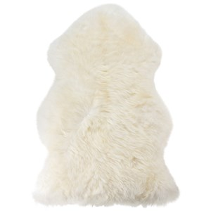Image of BOZZ Long-haired Lambskin White One Size (840419)