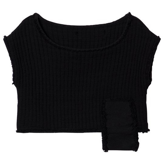 Little Creative Factory Quilted Crop Top Black Black