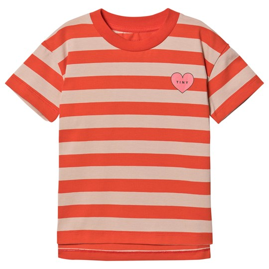 Tinycottons Heart Stripes Tee Light Nude/Red Light Nude/Red