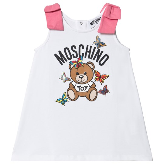 Moschino Kid-Teen Sequin Butterfly Dress White 10101