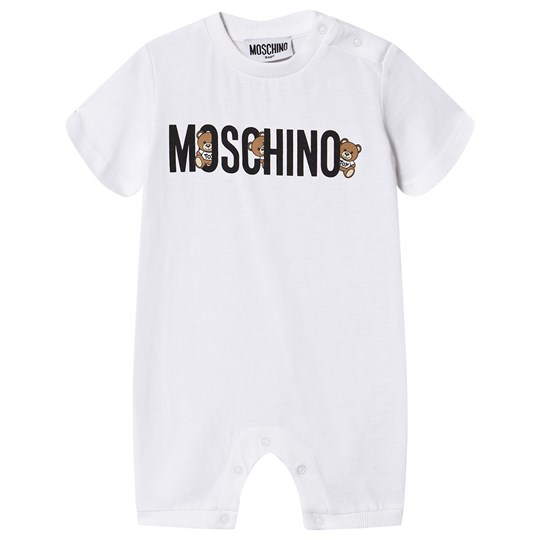 Moschino Kid-Teen Logo Romper White 10101