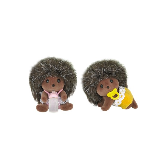Sylvanian Families Hedgehog Twins BROWN