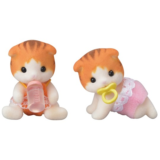 Sylvanian Families Maple Cat Twins Orange