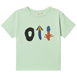 Oii Placement T-Shirt Pastel Green