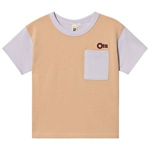 Image of Oii Block T-Shirt Cookie Dough/Thistle 146/152 cm (1499083)