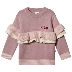 Oii Frill Sweater Misty Rose