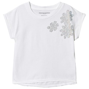 Image of How To Kiss A Frog Blomster Diamante Sparkle T-Shirt Hvid 2 år (1528730)