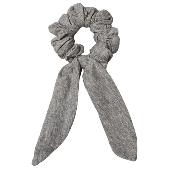 How To Kiss A Frog Bow Detail Scrunchie Grey Black