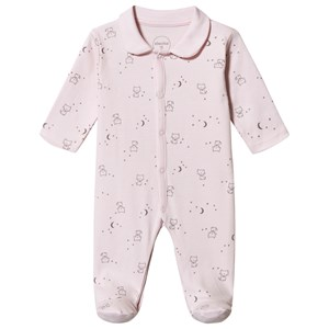 Image of Absorba Kat Print Footed Baby Body Pink 6 months (1538262)
