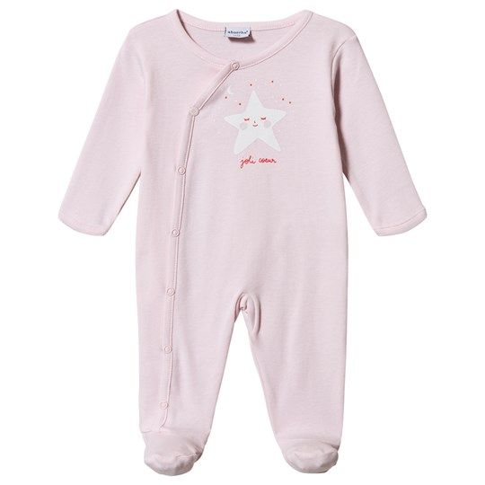 Absorba Star Print Footed Baby Body Pink 30