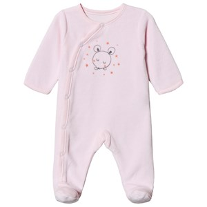 Image of Absorba Mus Print Velour Footed Baby Body Pink 9 months (1538297)