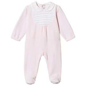Image of Absorba Velour Bib Footed Baby Body Pink 12 months (1538302)
