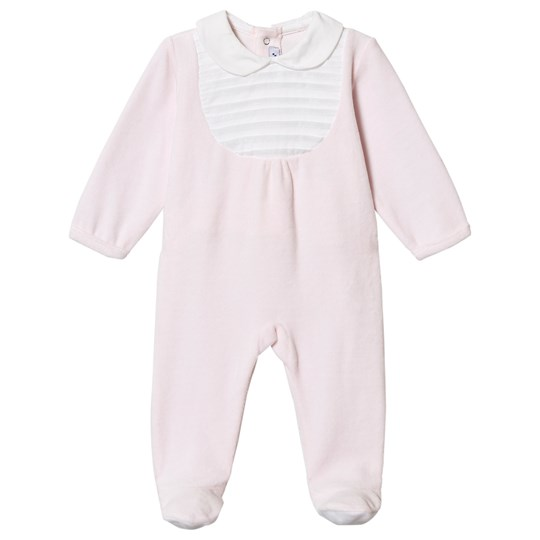 Absorba Velour Bib Footed Baby Body Pink 30