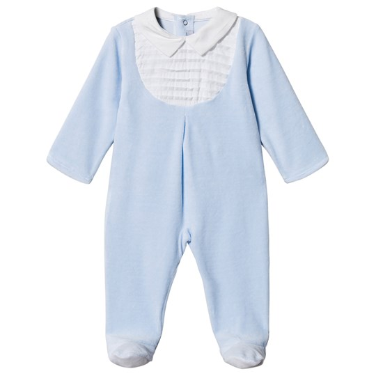 Absorba Velour Bib Footed Baby Body Bleg Blå 41