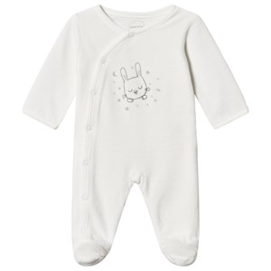 Image of Absorba Bunny Print Velour Footed Baby Body Hvid 6 months (1538365)