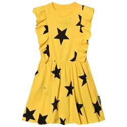 NUNUNU Ruffled Star Dress Lava Yellow