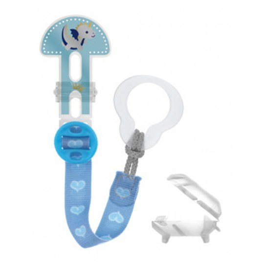MAM Clip It Adjustable Pacifier Clip Blue Blue