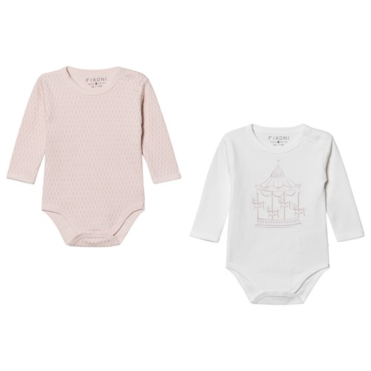 Fixoni 2-Pakke Kiss Baby Bodies Off White/Soft Rose Soft Rose