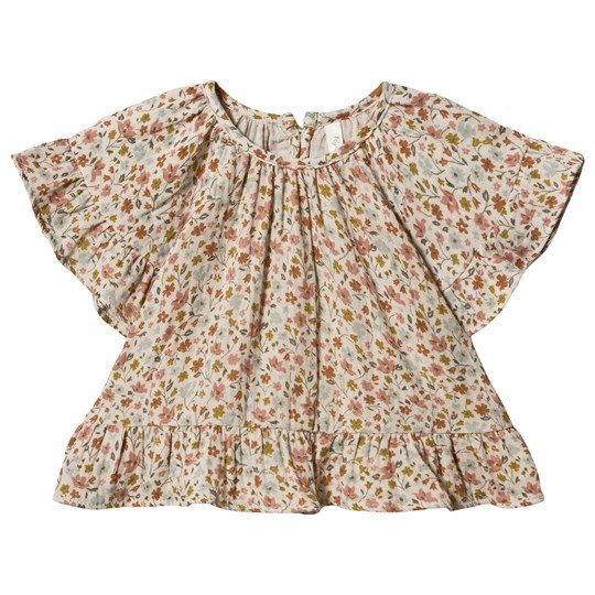 Rylee + Cru Flower Field Butterfly Topp Natural Natural