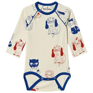 Image of Mini Rodini Minibaby Baby Body Off White 56/62 cm (1516297)