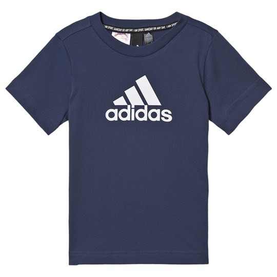 adidas Performance Logo Tee Navy tech indigo/white