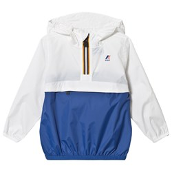 K-Way Le Vrai 3.0 Leon Jacket White/Royal Blue