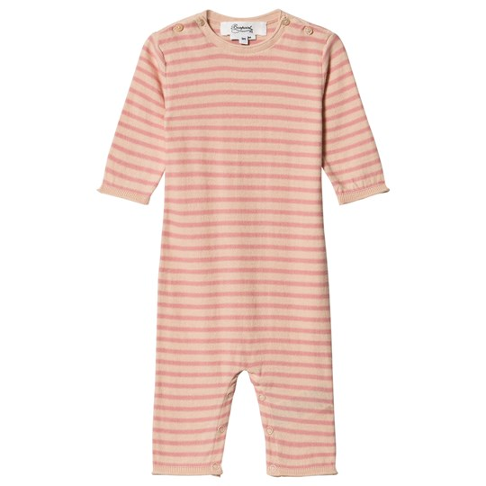 Bonpoint Stripe Strikket One-Piece Rosa/Cream 221