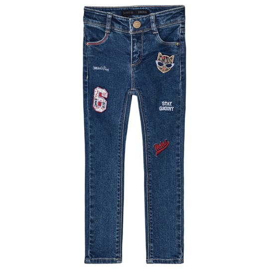 IKKS Denim Skinny Jeans with Patches Blue 85