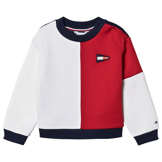 Tommy Hilfiger Color Block Flag Sweatshirt Navy/White/Red C87