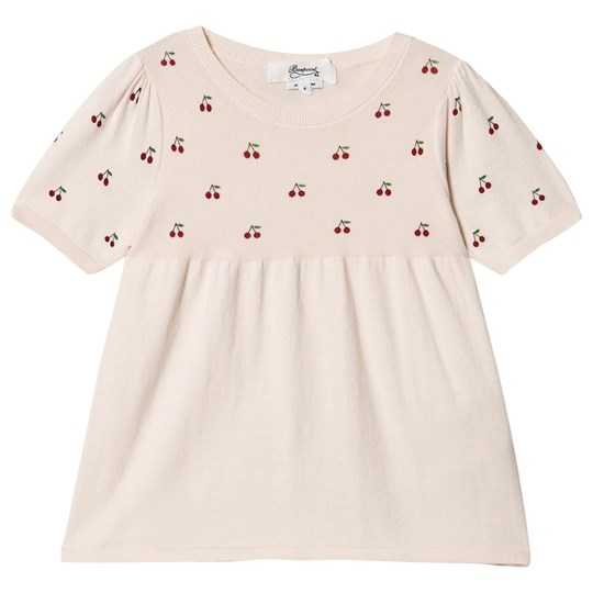 Bonpoint All Over Cherry Logo Knit Top Pink 120