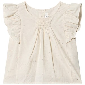 Image of Bonpoint Bluse Cream med Flæse Ærmer og Smockdesign 6 years (1575041)