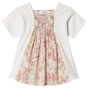 Image of Bonpoint Bluse med Smock i Hvid med Blomstret Liberty Print Panel 12 years (1575163)