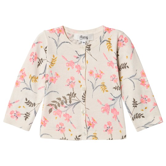 Bonpoint Fluoro Floral Print Knit Cardigan Multi 502