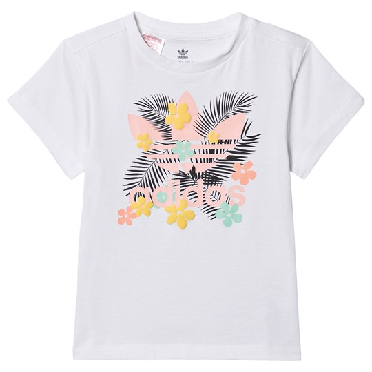adidas Originals Tropical Trekløver Logo T-shirt Hvid WHITE/MULTICOLOR
