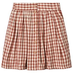 Image of búho Brooke Check Midi Skirt Vichy Brick 10 år (1544133)