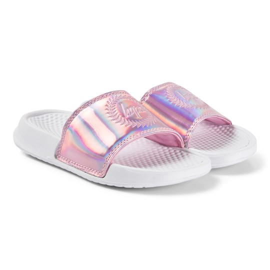 Hype Holographic Sliders Pink/White PINK HOLOGRAPHIC