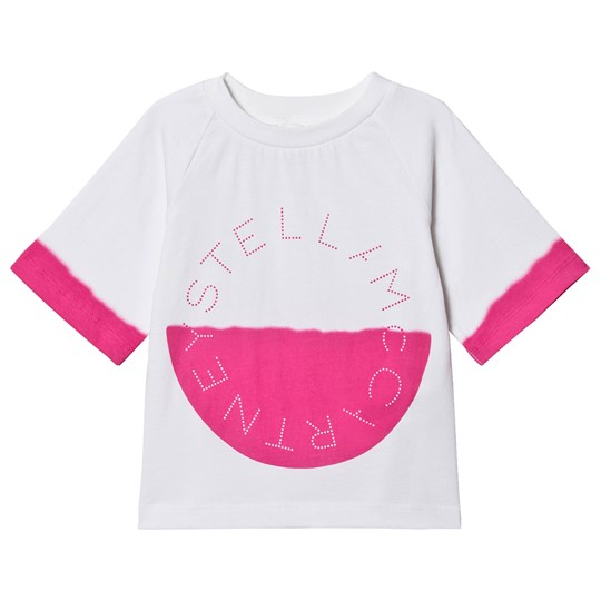 Stella McCartney Kids Branded Tee White/Pink 9232
