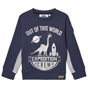 Fabric Flavours Out of This World Expedition Crew Sweatshirt Mørk Blå 7-8 år