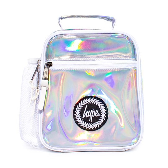 Hype Holographic Lunch Bag Silver Holographic
