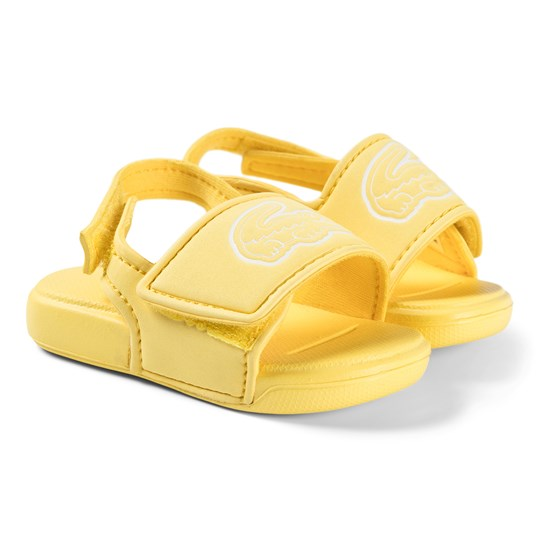 Lacoste Logo Infants Sliders Yellow 23Q